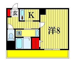 千葉県松戸市松戸新田の賃貸マンションの間取り