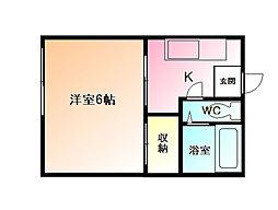コーポ長沢[1階]の間取り