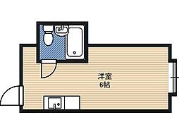 ラパンジール都島 5階ワンルームの間取り