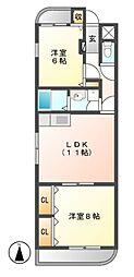 ハイムリーラ[2階]の間取り