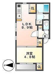 ラ・メールI[3階]の間取り