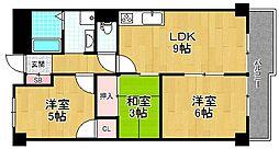 シャンティー枚方香里橋[1階]の間取り