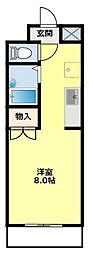 名鉄三河線 豊田市駅 4kmの賃貸マンション 2階1Kの間取り