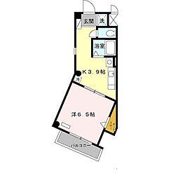 メビウスハウス[201号室]の間取り