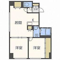 北海道札幌市東区北二十条東17丁目の賃貸マンションの間取り