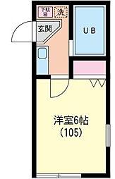 ニュートラッドハウス[0105号室]の間取り