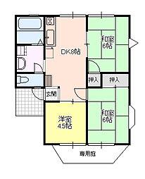アメニティーハイツ[1階]の間取り