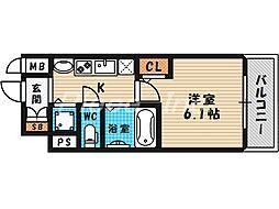 プレサンス梅田北デイズ[6階]の間取り