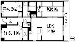 ソアール門戸荘[2階]の間取り