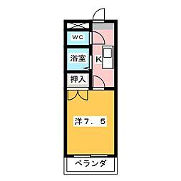 ジョワイユ21[2階]の間取り