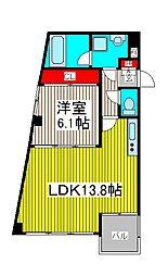 Kフラット[2階]の間取り