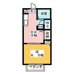 サンモールMai C[1階]の間取り