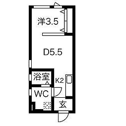 S−STUDIO[4階]の間取り