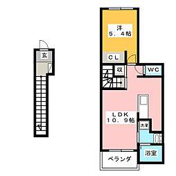 イースト ヒルズ[2階]の間取り