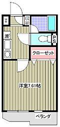 サンガーデン江曽島[206号室]の間取り