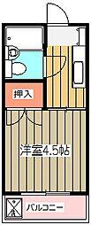 NYマンション[202号室]の間取り