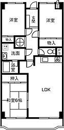 愛知県岡崎市羽根西新町の賃貸マンションの間取り
