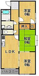 クレスト武庫之荘[3階]の間取り