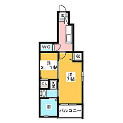 コーポ宮東[1階]の間取り