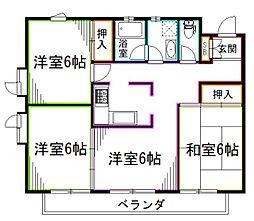 西武新宿線 下井草駅 徒歩9分の賃貸マンション 1階3LDKの間取り