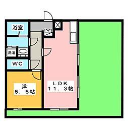 Le Perchoir白壁[1階]の間取り