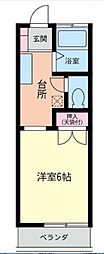 神奈川県相模原市南区麻溝台8丁目の賃貸アパートの間取り