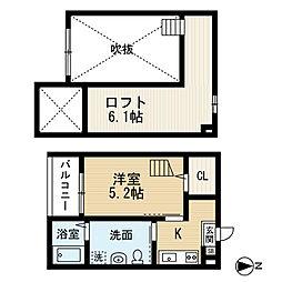 シェモワ笹塚[203号室]の間取り