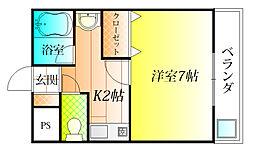 プロムナードみささぎ[2階]の間取り