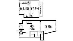 [テラスハウス] 兵庫県宝塚市平井2丁目 の賃貸【/】の間取り