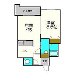 北海道札幌市白石区本郷通13丁目の賃貸マンションの間取り