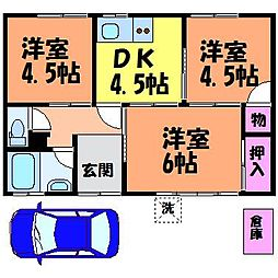 [一戸建] 愛媛県松山市六軒家町 の賃貸【愛媛県 / 松山市】の間取り