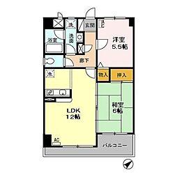 東京都日野市豊田3丁目の賃貸マンションの間取り