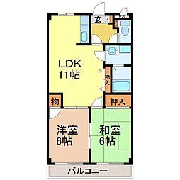 プロニティ桜宮[2階]の間取り