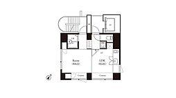 辰巳アパートメントハウス[801号室]の間取り