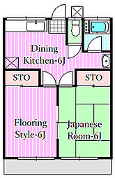 サンハイツ竹沢[1階]の間取り