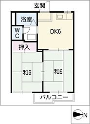 タウニィ大高台[2階]の間取り