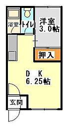 梢ハイツ[8号室]の間取り