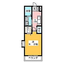 アルフォレスト折立[1階]の間取り