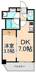 Comfortable柳橋(カンファタブルヤナギバシ)[801号室]の間取り