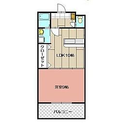 福岡県北九州市八幡西区清納2丁目の賃貸マンションの間取り