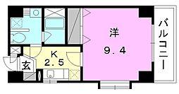 メルシーコート湊町[501 号室号室]の間取り