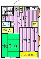 ハウス1001[2階]の間取り