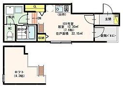 G-Residence Koiwa[101号室]の間取り