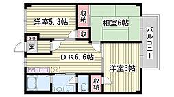 JR東海道・山陽本線 姫路駅 バス10分 平野南口下車 徒歩2分の賃貸アパート 2階3DKの間取り