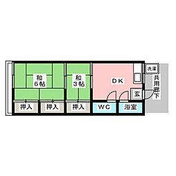 梅須賀荘[1階]の間取り