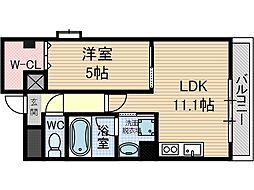 デルスールラローザ[2階]の間取り