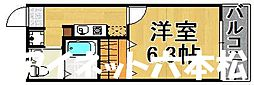 福岡市地下鉄七隈線 福大前駅 徒歩7分の賃貸アパート 1階1Kの間取り