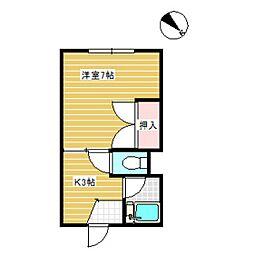 フレンドハイツ[2階]の間取り