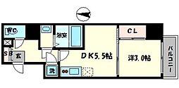 セレニテ本町reflet 14階1DKの間取り