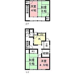 [一戸建] 岐阜県岐阜市西川手8丁目 の賃貸【/】の間取り